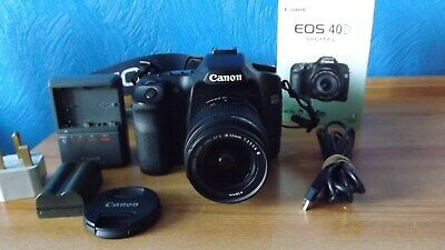 Canon Eos 40D With 18-55 Lens, Charger, Manual, Etc. Shutter Count Only 75