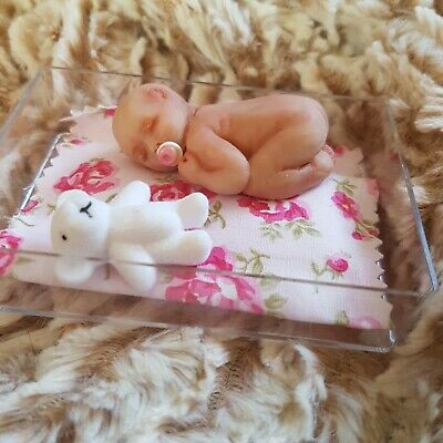 Ooak Miniature Baby Polymer Clay Doll