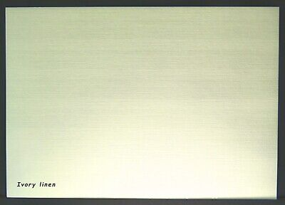 NEW A4 Textured Premium Quality Craft Card IVORY LINEN 255gsm 8 Sheets