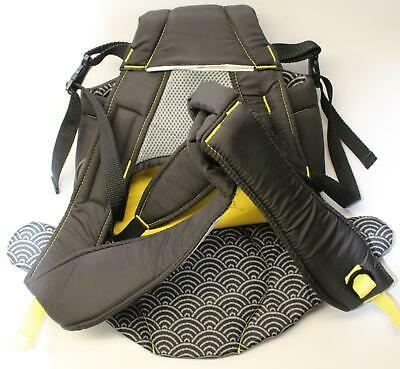 Evenflo Breathable Infant Baby Carrier Kangaroo Bag Black Gray Yellow