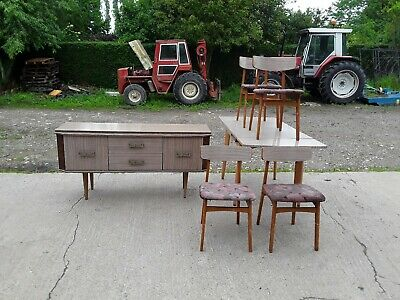 1950s/60s dining room suite including, side board, extending table & chairs