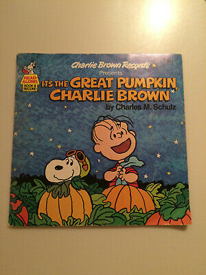 It's The Great Pumpkin Charlie Brown Rare Halloween Book + Record 1978 Excellent