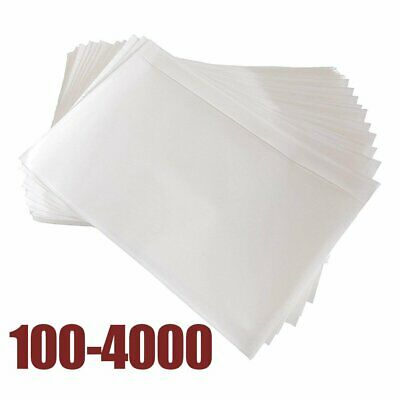 """7.5"""" x 5.5"""" Clear Adhesive Top Loading Packing List/Shipping Label Envelopes"""