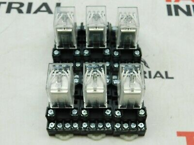 Omron MY4 Relay with MT14-PC 300V 7A Block, Lot of 6