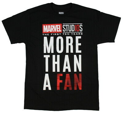 Marvel Studios The First Ten Years More Than A Fan Adult Men's T-Shirt