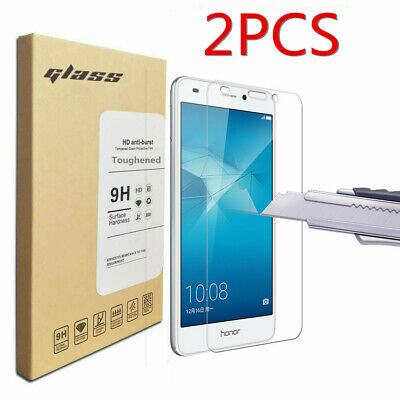 2Pcs Clear Tempered Glass Cover Film 9H Screen Protector For Huawei Honor 5C