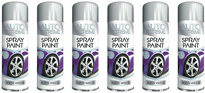 5 x 250ML AX SILVER ALLOY WHEEL SPRAY PAINT RESTORER CAR BIKE AUTO SILVER SATIN