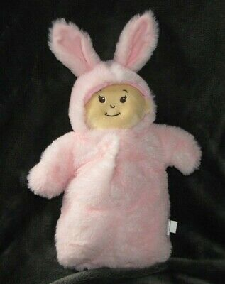 Manhattan Toy Stuffed Plush Cloth Doll Wee Baby Stella Snuggle Bunny Pink Outfit