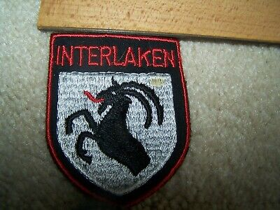 INTERLAKEN Vintage Ski Patch Badge Lapel Bern SWITZERLAND Resort Travel Souvenir