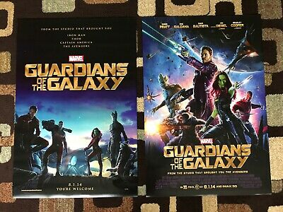 Guardians Of The Galaxy Original Movie Poster 27X40 DS Both U.S. Versions 2014