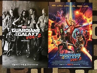 Guardians Of The Galaxy Vol 2 Original Movie Poster 27X40 DS Lot of 2 U.S Styles