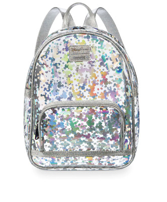 Disney Parks Mickey Mouse Magic Mirror Metallic Mini Backpack New with Tags