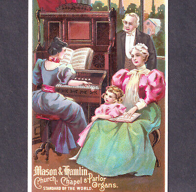 Antique Mason & Hamlin Church & Parlor Organ Victorian Advertising Trade Card