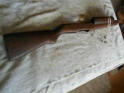 early WW2 USGI M-1 garand rifle wood replacement stock & handguards square P
