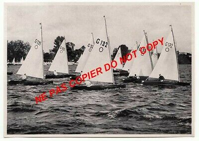 COURSE VOILE MARINE Sailing Segeln JEUX OLYMPIQUES 1936 OLYMPIC GAMES