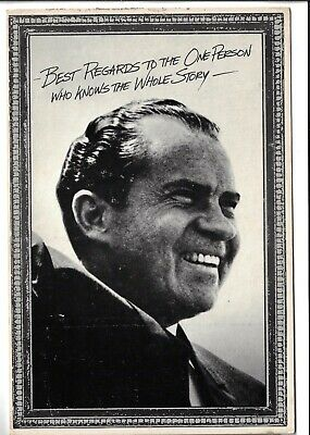 1977 Large Postcard of Nixon w/ Regards to the One Person Who Knows Whole Story