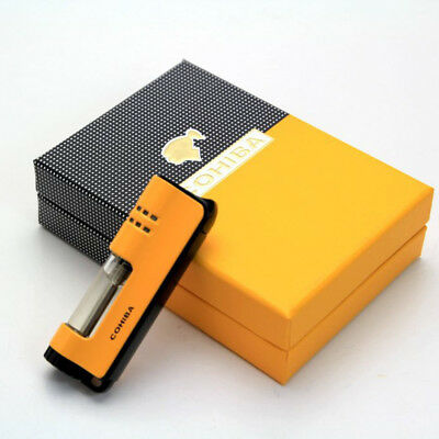 COHIBA Yellow  Single Torch Jet Flame Windproof Cigar Cigarette Lighter