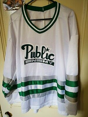 Super Rare Oversized Public Enemy Hockey Jersey Vintage 1990s