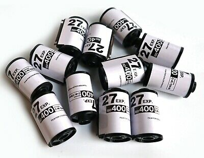 12 x EXP White 35mm Empty cartridges cassettes with tail.