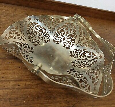antique silver plate  fret work BOWL