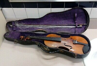 Very Old Vintage Antique Violin With Original Bow and Case