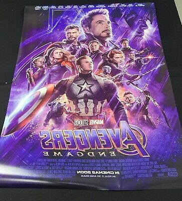 2pcs AVENGERS ENDGAME MOVIE POSTER 2 Sided ORIGINAL INTL FINAL 27x40
