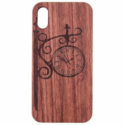 10X(For iPhone X Case, Premium Wood Veneer Rugged PC Dual Layer Hybrid Cove 7X2)