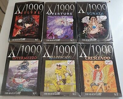 X/1999 By Clamp manga vols 1 to 4 & 7 - 8