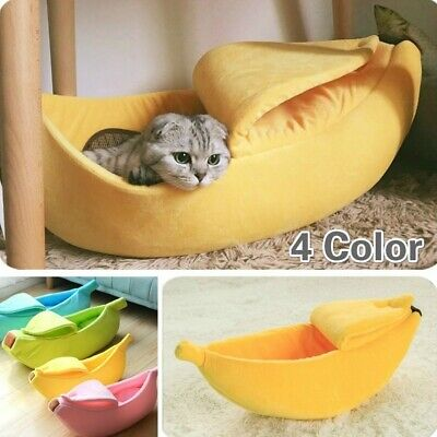 Banana Cat Bed House Puppy Cushion Kennel 4 Colors Warm Portable Pet Supplies