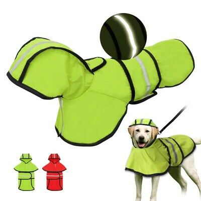 Dog Raincoat Waterproof Outdoor Rain Coat Jacket Coat Fleece Reflective S S