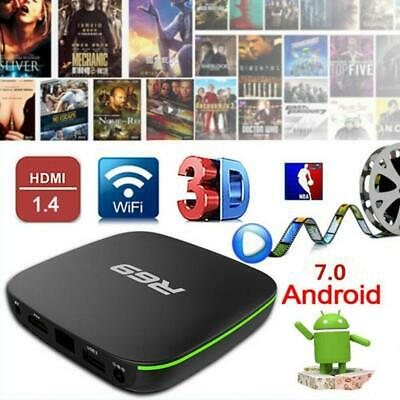 R69 Android 7.1 Smart TV Box 1+8G Quad Core HD 2.4GHz WiFi 4K Media Player 2019