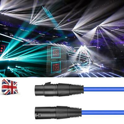 Microphone Lead / Mic Cable / XLR Patch Lead Balanced Male to Female Plugs UK