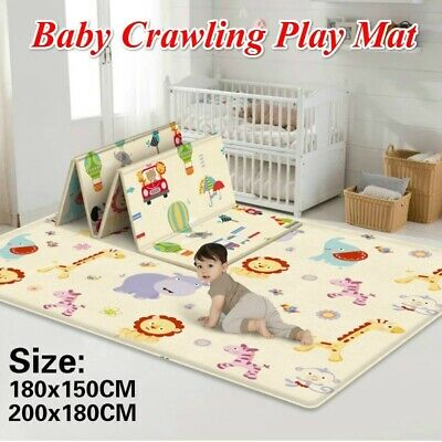 Double Sided Baby Crawling Carpet Mat Kids Game Carpet Rugs Indoor Outdoor Mats