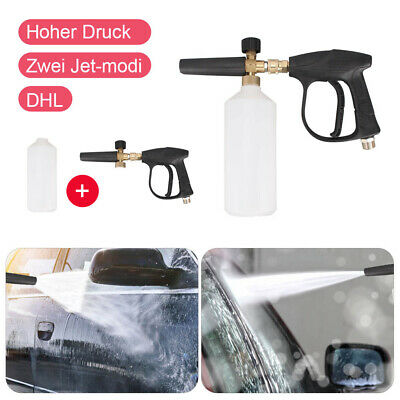 Adjustable High Pressure Snow Foam Washer Jet Lance Bottle Car Wash Spray Gun UK