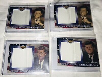 2019 TCSP Presidential Legend John F. Kennedy JFK Event Worn RELIC Lot of 4