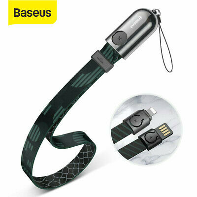 Baseus USB Charger Cable Lanyard Data Cord for iPhone 11 Pro XS Max 8 7 6s Plus