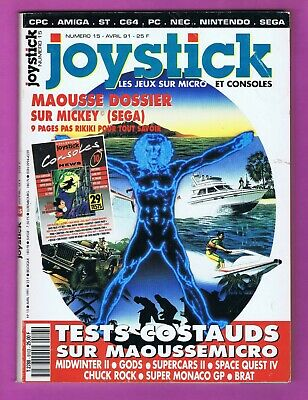 ▬► JOYSTICK Magazine 🎮 - N°15 Avril 1991 - Mindwinter - Mickey - Gods supercars