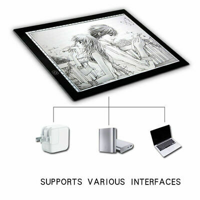 LED Drawing Board Light Slim Tracing Pad Copy Tattoo Craft Stencil A4 A3 U4Z3V