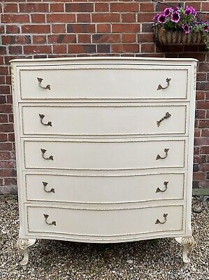 Tall Vintage French Louis Style Olympus Chest Of Drawers