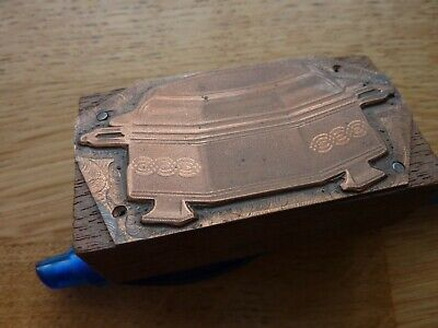 Beautiful Antique Copper Printing Block Victorian/Edwardian