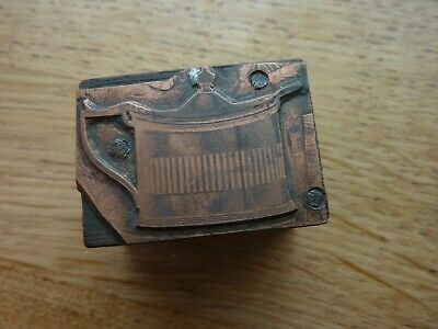 Lovely Detailed Antique Copper Printing Block Victorian/Edwardian