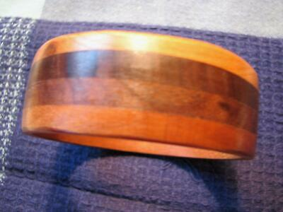 834eb76d369 Wooden 4 Layered Bangle Bracelet Chunky Vintage Wide Natural Wood Rustic