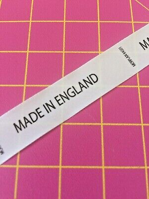 MADE IN ENGLAND Professional- PRINTED NYLON - SEW IN - 50 LABEL PACK