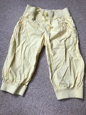Girls Next Yellow Cropped Harem Style Trousers Age 8 Cotton