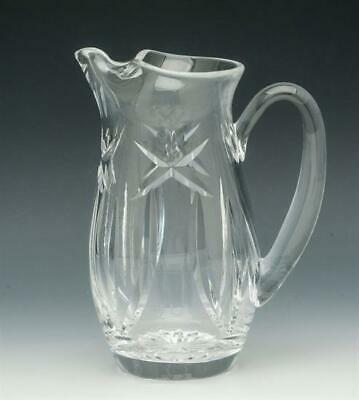 "Waterford, clear crystal ice lip Water Pitcher 7"" tall"