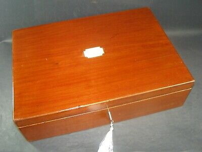 """Antique 18"""" A3  Document Box  Recessed Side Handles Working Lock & Key c1890"""