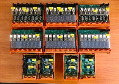 WEIDMULLER LOT RSM-GR8-MRS,  OMRON G2R-1- 24 VDC relays, RSD,  GERMANY