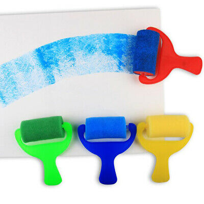 Toddlers Sponge Roller Stamper Foam Paint DIY Crafts Stamps Baby Painting Toy 6A