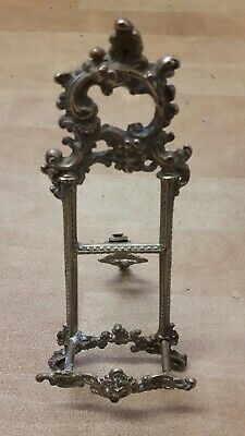 Antique Ornate Victorian Brass Book Picture Plate Holder Display Stand