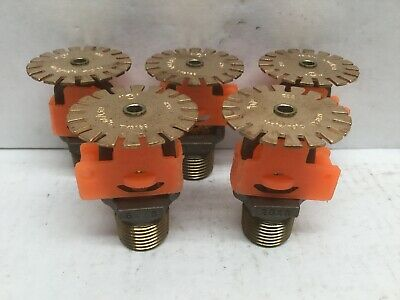 "TYCO TY3189 1/2"" Extended Coverage Sprinkler Head 175F (Lot of 5)"